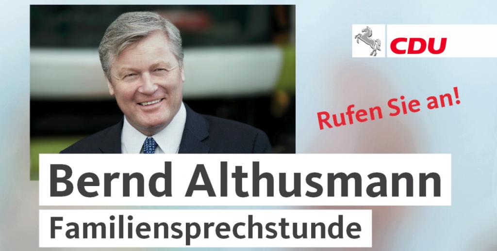 Familiensprechstunde mit Bernd Althusmann