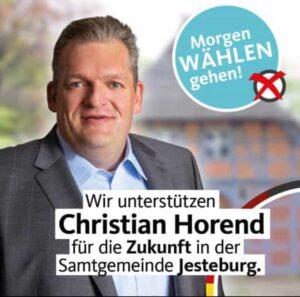 Wir unterstützen Christian Horend…